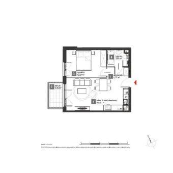 Mieszkanie gotowe do odbioru, 2 pokoje, Kowale ul. Zeusa – 41,68 m2