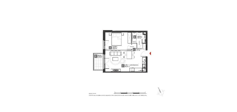 Mieszkanie gotowe do odbioru, 2 pokoje, Kowale ul. Zeusa - 41,68 m2