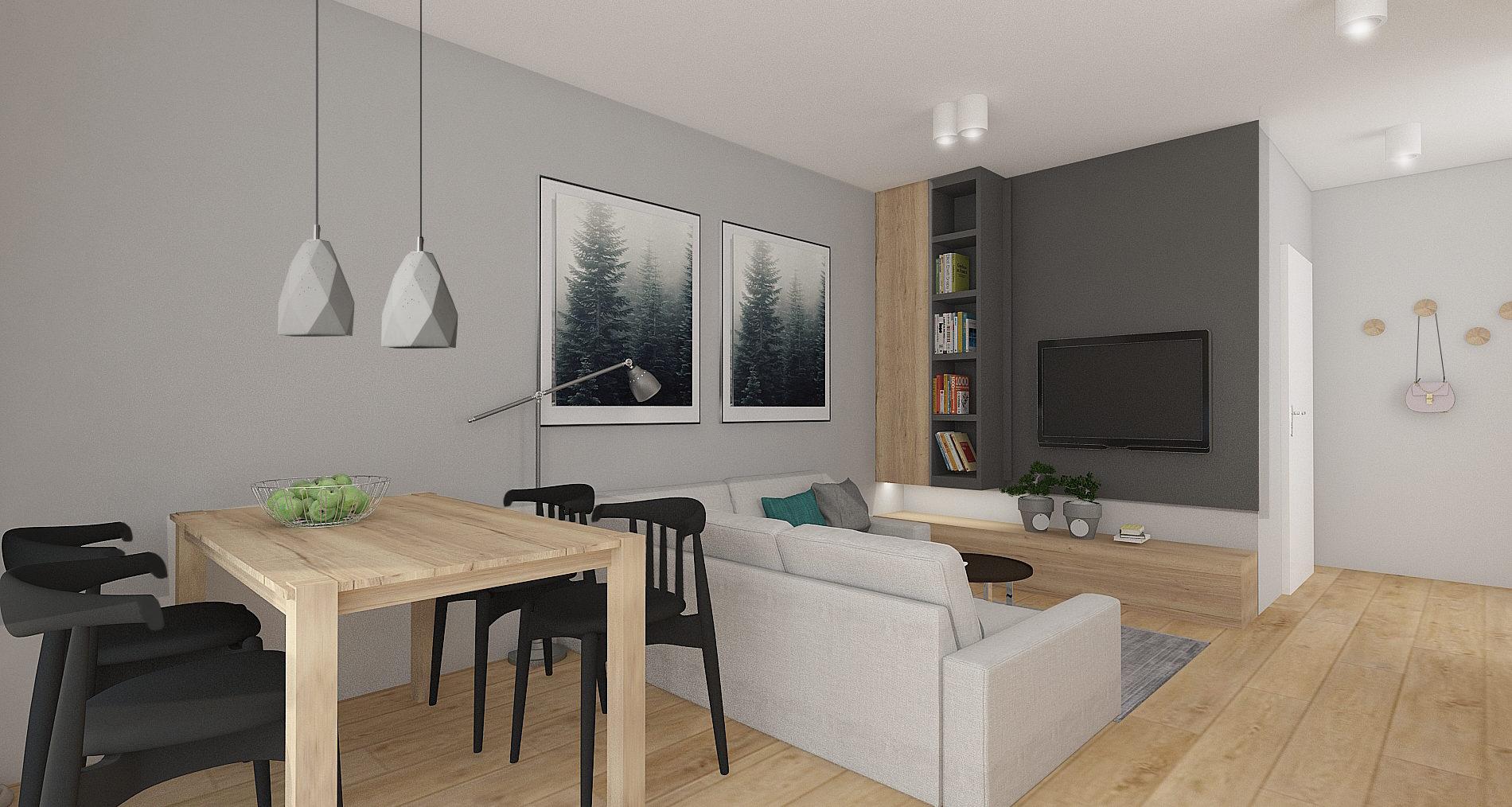Mieszkanie gotowe do odbioru, 2 pokoje, Gdańsk ul. Flisykowskiego - 43,30 m2